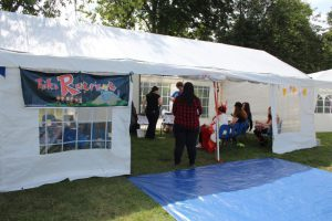Our events Marquee in the main festival area.