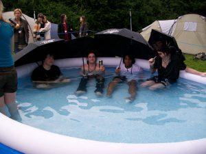 Attendees enjoying the Toko-R Pool back in 2009