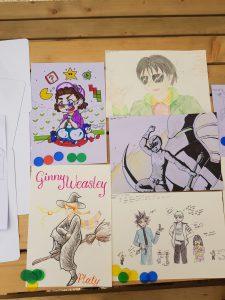 Art contest entries